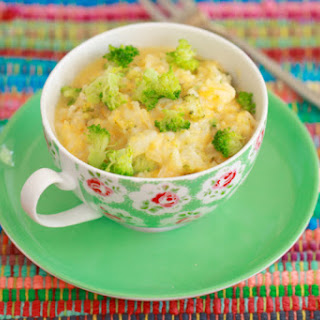 Microwave Mug Broccoli and Cheese Rice Bowl (Microwave Mug Meals)