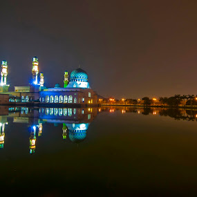 Reflections... by Fredzex Foo - Buildings & Architecture Places of Worship ( religion, reflection, islam, mosque, night, worship, moslem, city )