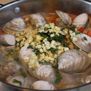 Linguine with Clams, Tomatoes, and Corn