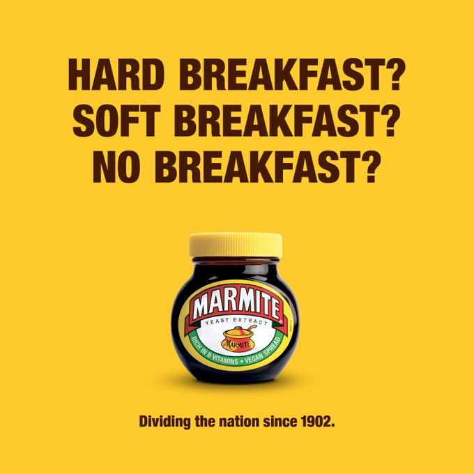 Marmite Breakfast Means Breakfast creative ad campaign