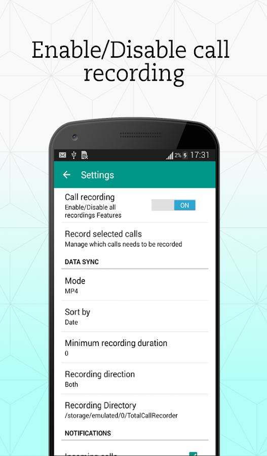 Total Call Recorder ( TCR )- screenshot