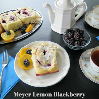 Meyer Lemon Blackberry Cinnamon Rolls