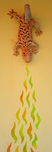 Photo: terracotta lizard & mural - Rajecke Teplice