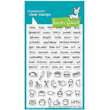 Lawn Fawn Clear Stamps 4X6 - Plan On It Meal Planning