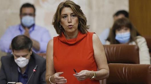 """Susana Díaz se ofrece a Moreno para """"remodelar"""" el presupuesto andaluz"""