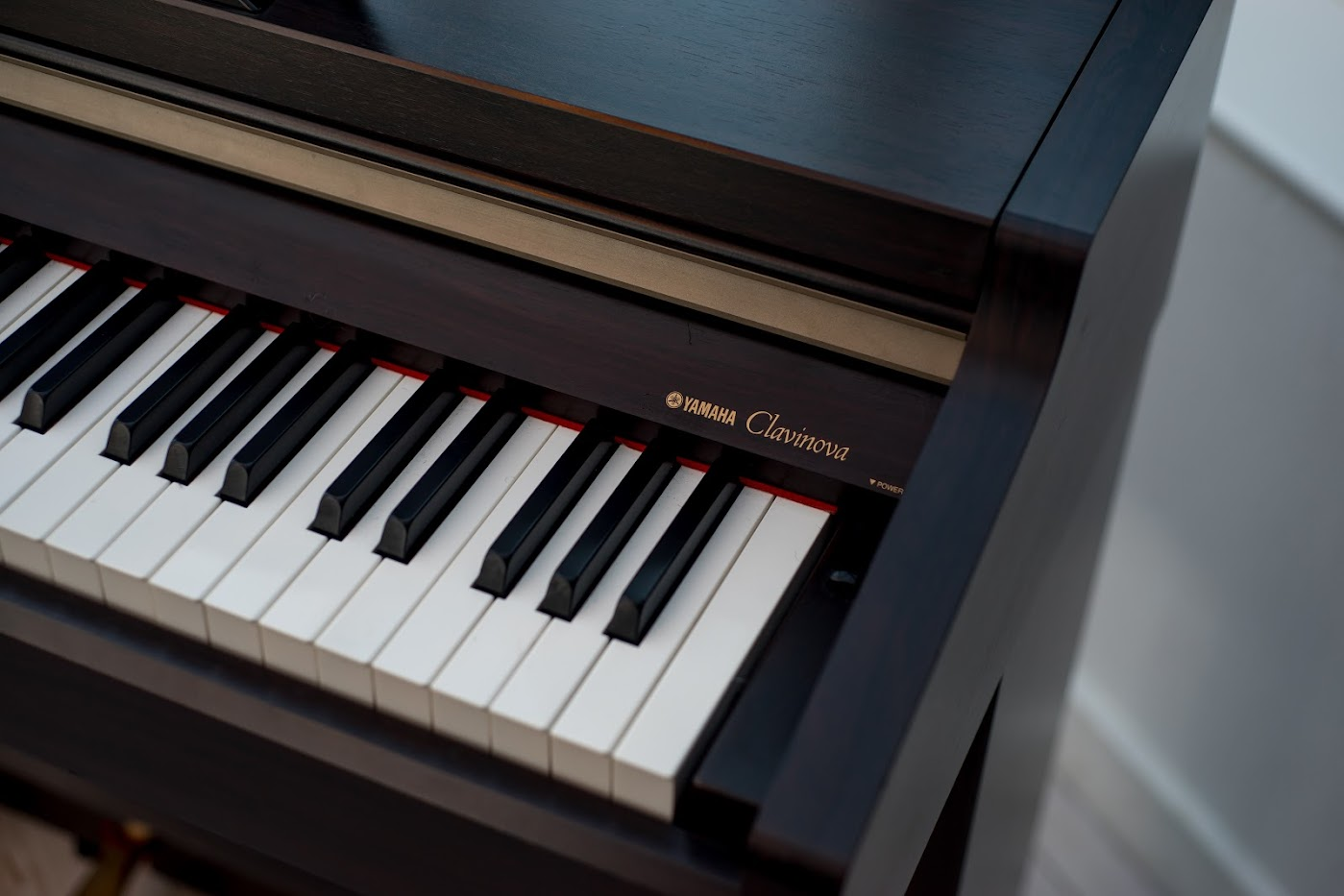 Yamaha clavinova full size digital piano 88 keys notes weighted keyboard deliver ebay for Yamaha fully weighted keyboard