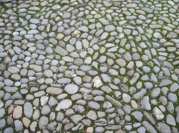 Irish cobblestone near the Kilkenny Castle