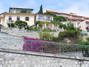 Photo: Now making our way to Old Menton, and passing these colorful homes on the hillside below.