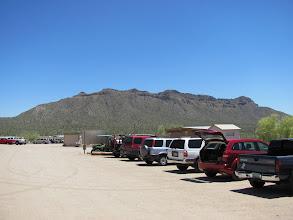 Photo: View of mountain behind shooting range.