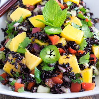 Black Rice Mango Salad.