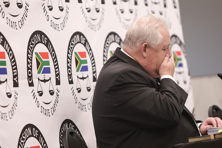 Top boss of corruption-accused facilities management company Bosasa, Angelo Agrizzi, at the state capture inquiry.