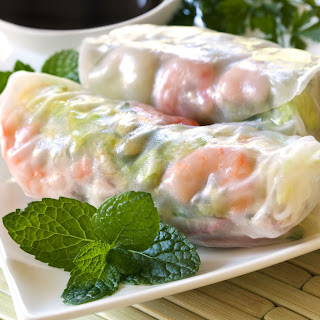 Prawn & Bean Shoot Summer Rolls