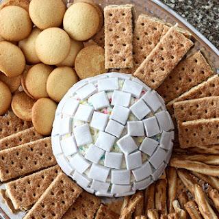 Disco Ball Funfetti Cheesecake Dip