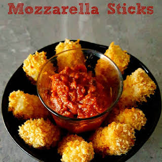 Baked Mozzarella Sticks for #FreakyFriday.