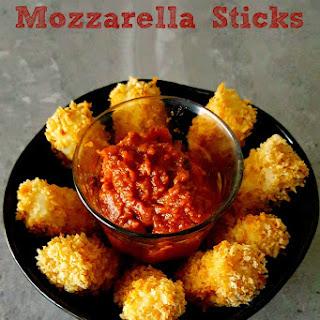 Baked Mozzarella Sticks for #FreakyFriday.