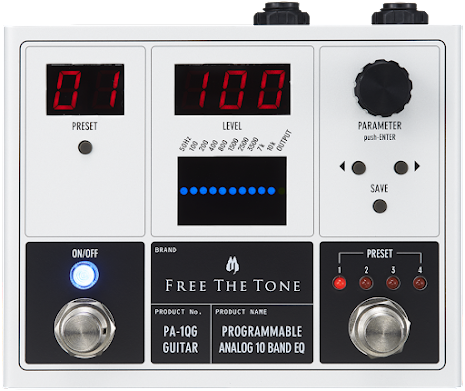 Free the Tone PA-1QG Programmable Analog EQ Guitar