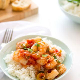 Camarones Guisados (Stewed Shrimp).