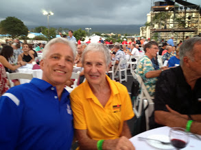 Photo: Dinner with Harriet Anderson - The  oldest female competitor
