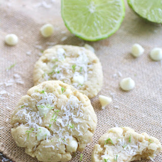 Coconut-Lime White Chocolate Chip Cookies.