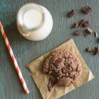 Double Chocolate Almond Cookies with Coconut