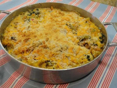 """Tri-Color Spinach And Artichoke Mac And Cheese """"This recipe prepares in a..."""