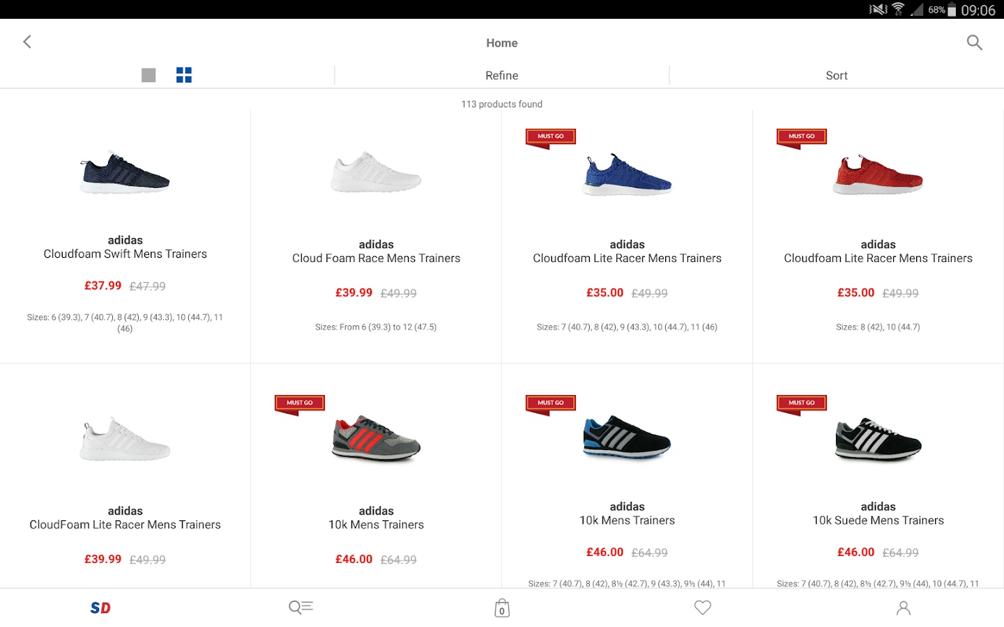 Sports direct- screenshot