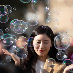 Bubbles by VAM Photography - People Street & Candids ( places, prague, bubbles, travel, people )