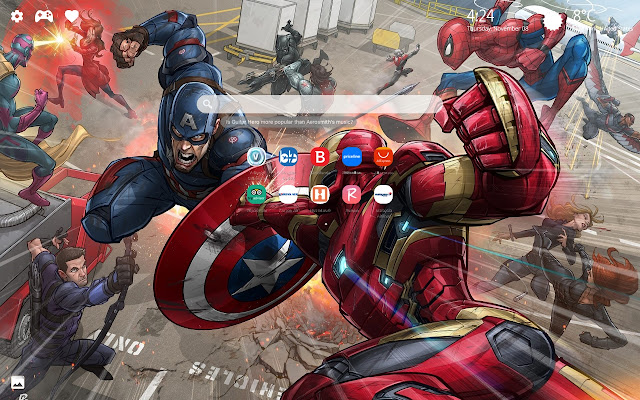 Marvel Comics HD Wallpaper New Tab Theme