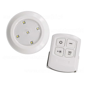 Set 6 lampi LED Maclean cu telecomanda