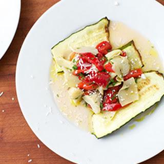 Zucchini, Artichoke & Roasted Pepper Salad