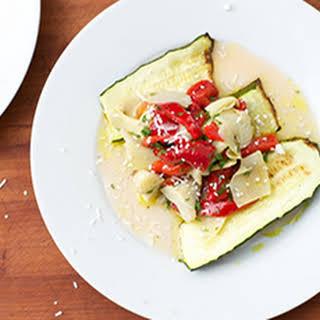 Zucchini, Artichoke & Roasted Pepper Salad.