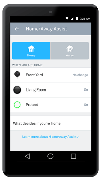Nest app home away assist settings page