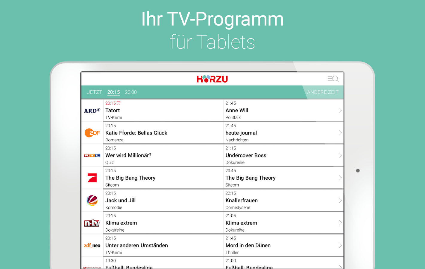 HÖRZU TV Programm • Ihre TV-App – Screenshot