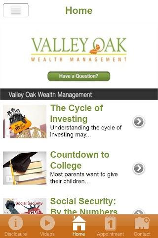 android Valley Oak Wealth Management Screenshot 1