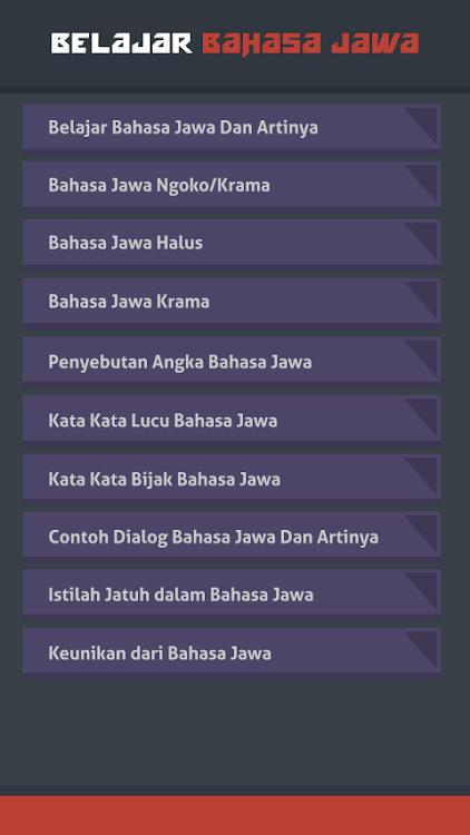 Belajar Bahasa Jawa Android 应用 Appagg
