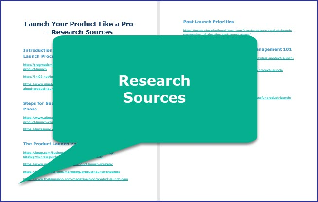 Launch Your Product Like a Pro - Research Sources