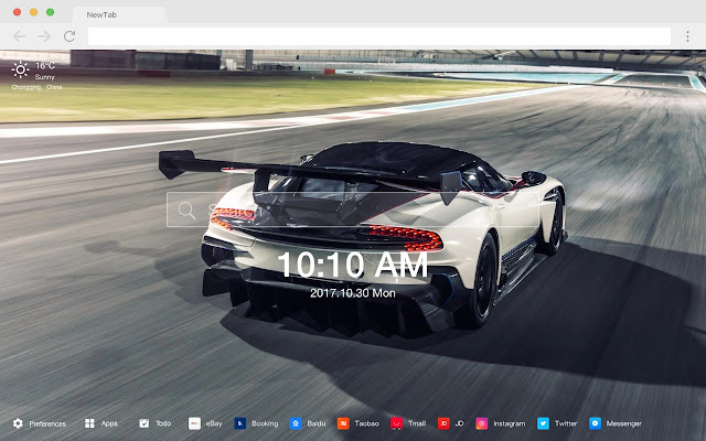 Supercar Hot HD Cars New Tabs Theme