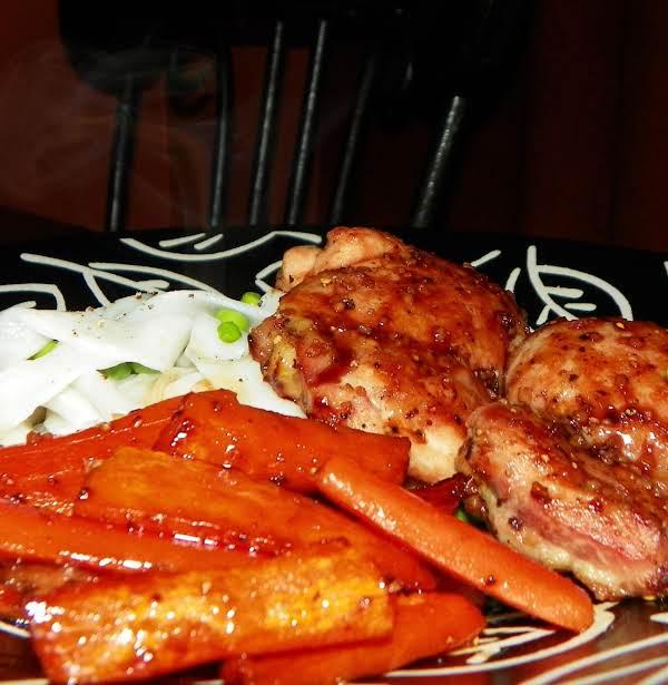 Pomegranate Molasses Glazed Chicken & Carrots