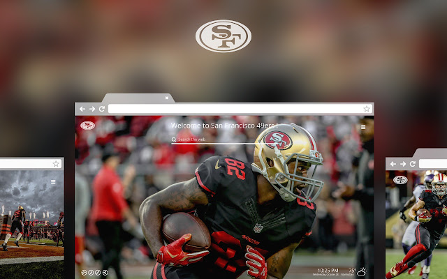 OFFICIAL NFL San Francisco 49ers HD Tab Theme - Chrome Web Store