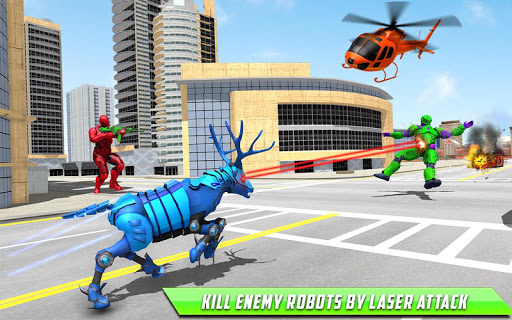Deer Robot Car Game u2013 Robot Transforming Games apktram screenshots 12