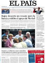Photo: Rajoy descarta un rescate para la banca y exhibe el apoyo de Merkel; Interior y Gobierno vasco coinciden en flexibilizar la política penitenciaria y el Chelsea, un triunfo del 'otro' fútbol, en la portada del lunes 21 de mayo de 2012 http://srv00.epimg.net/pdf/elpais/1aPagina/2012/05/ep-20120521.pdf