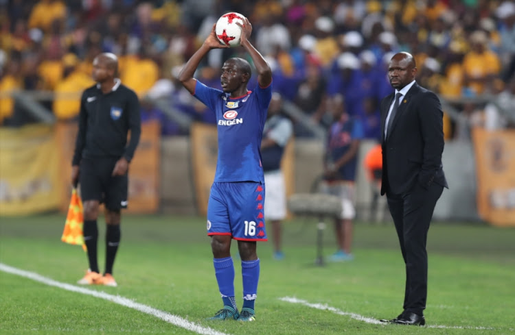 Aubrey Modiba of SuperSport United during the MTN 8 Quarter Final against Kaizer Chiefs at Moses Mabhida Stadium on August 12, 2017 in Durban, South Africa.