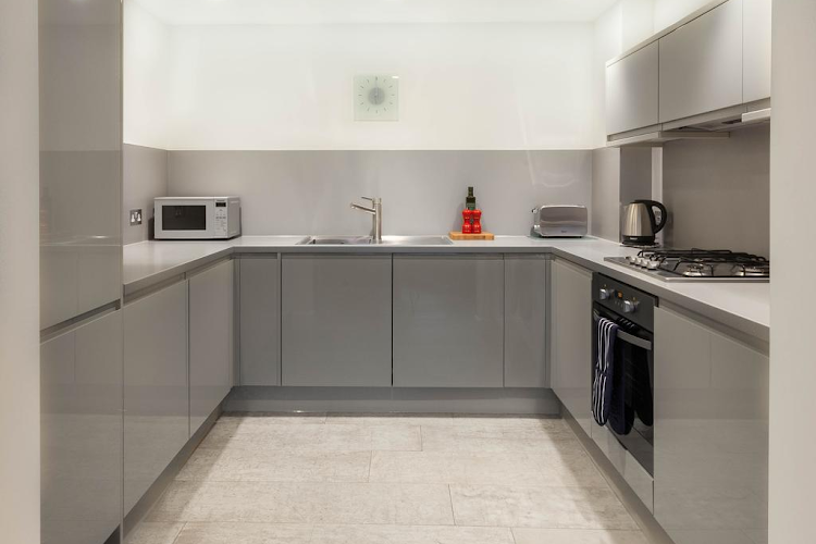 Kitchen at Old Street by Q Apartments