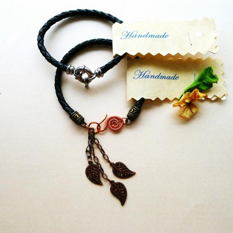 Handmade Leather Bracelet by Heavenly Gems