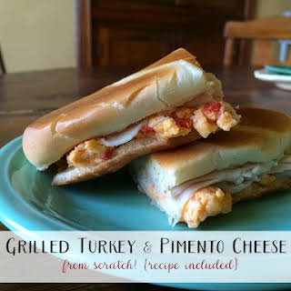 Grilled Turkey and Pimento Cheese Sandwich.