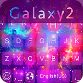Galaxy2 Emoji iKeyboard Theme