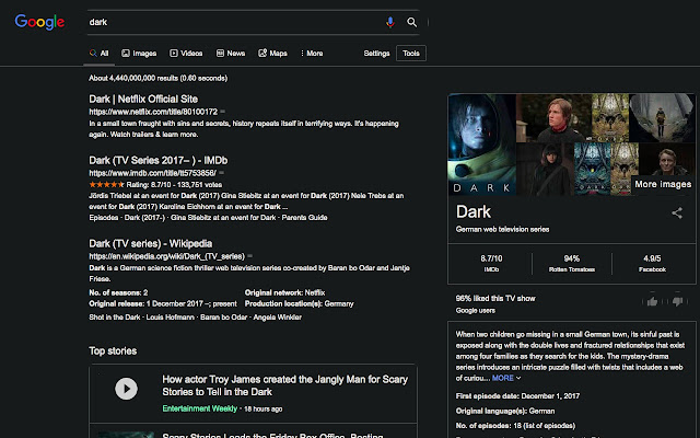Dark theme for any website