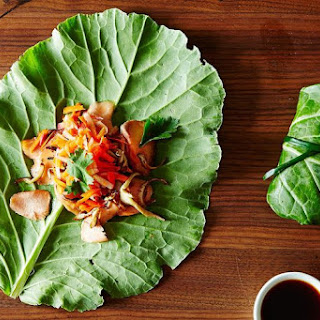 Asian Summer Rolls with Leftover Fish and Market Greens