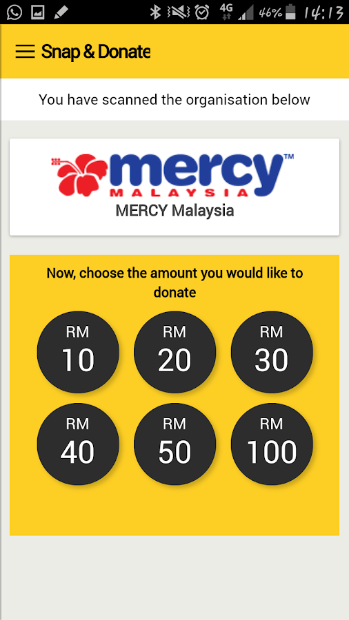 M2U Donate- screenshot