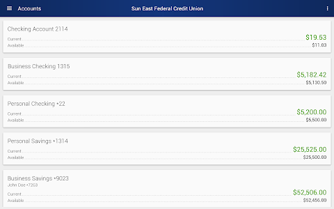 Sun East Federal Credit Union screenshot 5
